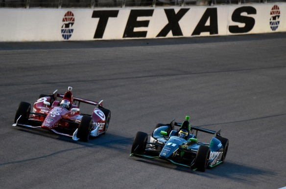 6-7 June, 2014, Fort Worth, Texas USA Sebastien Bourdais and Scott Dixon ©2014, Nigel Kinrade LAT Photo USA