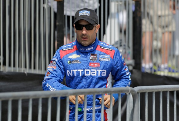 Tony Kanaan, of Brazil, during practice for the IndyCar Firestone Grand Prix of St. Petersburg auto race Saturday, March 28, 2015, in St. Petersburg, Fla. The race takes place on Sunday. (AP Photo/Chris O'Meara)  ORG XMIT: OTKCO172