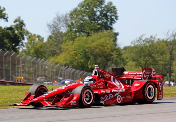Aug 2, 2015; Lexington, OH, USA; Indy Car Series driver Scott Dixon during the Honda Indy 200 at Mid-Ohio at Mid-Ohio Sports Car Course. Mandatory Credit: Aaron Doster-USA TODAY Sports ORG XMIT: USATSI-230376 ORIG FILE ID:  20150802_ggw_db4_082.JPG